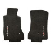 2005-2007.5 C6 Corvette Ebony Velourtex Front Floor Mats w/ Sideways Logo