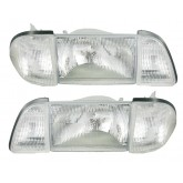 1987-1993 Mustang Clear Headlights - 6 piece set