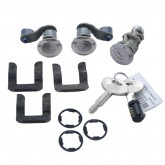 1987-1993 Mustang Door/Trunk/Glove Lock Set - Stainless