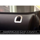 2010-2012 Mustang GT Polished Stainless Door Lock Trim Bezels - Pair