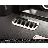 2010-2012 Mustang GT Polished Stainless Defroster Vent Trim - Pair