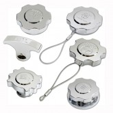 2005-2009 Ford Mustang V6 Chrome Billet 6pc Engine Caps Set