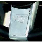 "2005-2009 Ford Mustang Chrome ""GT"" Engraved Lower Steering Wheel Badge"