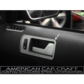 2010-2012 Mustang GT Brushed Stainless Door Handle Trim Plates - Pair