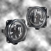 2003-2004 Mustang Cobra Clear Fog Lights w/ H10 Bulbs - Pair