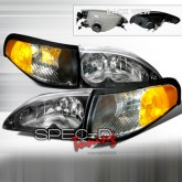 1994-1998 Ford Mustang or Cobra Black Euro Headlights