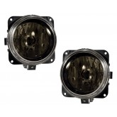2003-2004 Mustang Cobra Smoked Fog Lights w/ H10 Bulbs - Pair