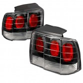1999-2004 Ford Mustang Crystal Altezza Tail Lights - Black