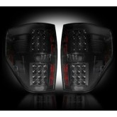2009-2014 F-150 & SVT Raptor Rear LED Tail Lights Smoked Lens 264168BK