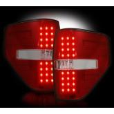 2009-2014 F-150 & SVT Raptor Rear LED Tail Lights Red Lens 264168RD