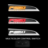 2011-2016 F250 SuperDuty Chrome Light Up Fender Emblems - Red White or Amber