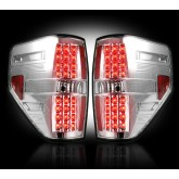 2009-2014 F-150 & SVT Raptor Rear LED Tail Lights Clear Lens 264168CL