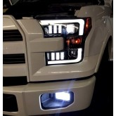 2015-2017 Ford F150 RECON Smoked Black Projector Headlights