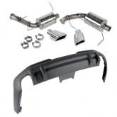 2011-2012 Mustang Roush 3.7L V6 Dual Exhaust w/ Square Tips and Rear Valance Kit