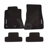 2015-2017 Mustang Roush Embroidered Black Front & Rear Floor Mats - 4 Piece Set