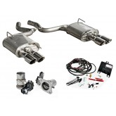 2015-2017 Mustang Ecoboost I4 Convertible Roush Quad Tip Active Exhaust Kit - 421928