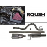 2011-2013 Ford F-150 5.0L Roush Cold Air Intake Kit & Performance Exhaust 421238 & 421248