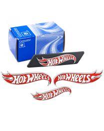 Camaro Red & Chrome Hot Wheels Exterior Emblem Set - Grille Fenders & Trunk