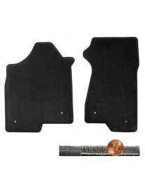 2003-2007 H2 Hummer Ebony Black 2pc Ultimat Driver & Passenger Floor Mats Set