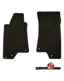 2006 H3 Hummer SUV Ebony Black 2pc Classic Loop Driver & Passenger Floor Mat Set