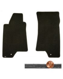2007-2010 H3 Hummer Ebony Black 2pc Velourtex Driver & Passenger Floor Mats Set