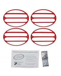 C5 Corvette 4pc Painted Tail Light Cover Grilles - Torch Red 70 70U WA9075