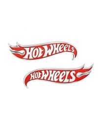 2010-2017 Chevy Camaro Red & Chrome Authentic Hot Wheels Exterior Fender Emblems