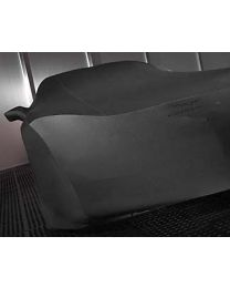 C6 Corvette Black Indoor Car Cover & Black Crossed Flag Logo with Storage Bag
