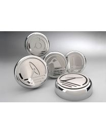 2005-2013 Corvette Automatic Transmission Chrome Engine Cap Covers - 5pc Set