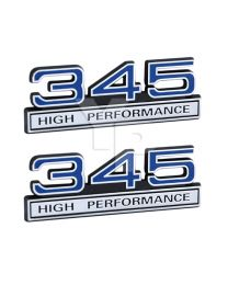 "4/"" Long 347 5.7L Stroker Engine High Performance Emblem in Chrome /& Red Trim"