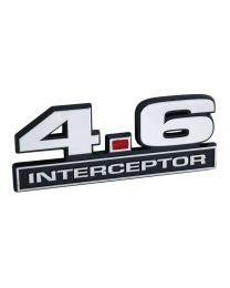 """Ford Mustang 4.6 Liter 281 Engine Police Interceptor Emblem Badge Logo - 5"""" Long"""