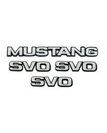 1984-1986  Mustang SVO Fender & Trunk Emblems 4pc. Set