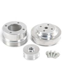 1986-1993 Mustang 5.0 EFI POLISHED Billet Aluminum Underdrive Pulleys Set of 3