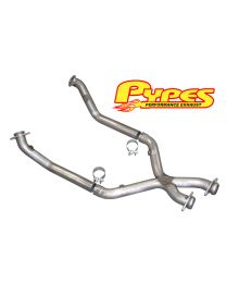 "1998-2004 Pypes Mustang V6 3.8 Dual Exhaust 2.5"" Crossover X-Pipe"