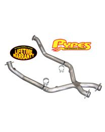 "1996-1998 Mustang GT 4.6 Liter V8 Stainless 2.5"" Off Road X-Pipe w/ Clamps"