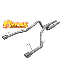 2005-2010 Ford Mustang GT Stainless Steel Mid-Muffler Exhaust System with Tips