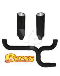 "10"" Slant Black Double Stack Stainless Pypes Exhaust Kit Chevy 2500 3500 Diesel"