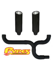 "Pypes Ford 7.3 Powerstroke Super Duty Diesel 12"" Black Dual Stacks Exhaust Kit"