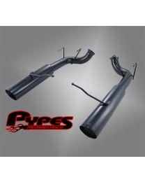 "2011-2014 Mustang GT 5.0 Black Pype Bomb 3.0"" Axle Back Muffler Delete Exhaust"