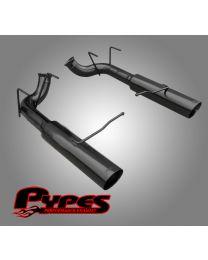 2011-2014 Mustang V6 3.7 BLACK Pype-Bomb Axle Back Muffler Delete Exhaust Kit
