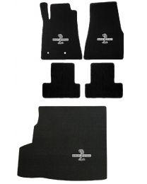 2007 GT500 Convertible Black Floor & Trunk Mats WITH Shaker - Shelby Cobra Logos