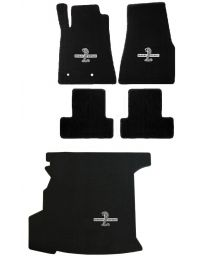 2008 2009 GT500 Coupe Black Floor & Trunk Mats WITH Shaker - Shelby & Cobra Logo