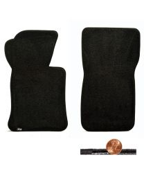 1963-1967 C2 Corvette Classic Loop 2pc Black Front Floor Mats Set