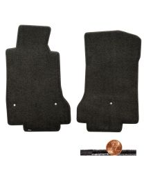 2008-2012 C6 Corvette Classic Loop 2pc Ebony Black Front Floor Mats Set