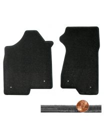 2003-2007 H2 Hummer Ebony Black 2pc Velourtex Driver & Passenger Floor Mats Set
