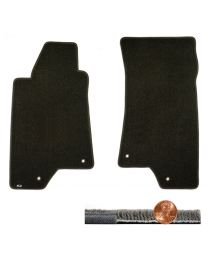 2006 H3 Hummer SUV Ebony Black 2pc Ultimat Driver & Passenger Floor Mats Set
