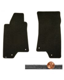 2006 H3 Hummer SUV Ebony Black 2pc Velourtex Driver & Passenger Floor Mats Set