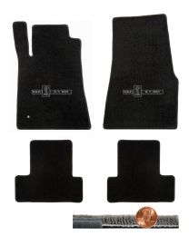 2005-2010 GT-500 Mustang Black 4pc Ultimat Floor Mats Set - GT-500 Cobra Logos