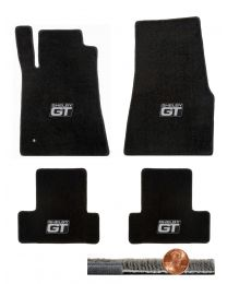 2005-2010 GT-500 Mustang Black 4pc Ultimat Floor Mats Set - Shelby GT Logos