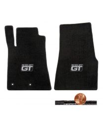 2011 2012 GT-500 & Mustang 2pc Black Classic Loop Floor Mats - Shelby GT Logos